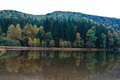Het meer van heilige Anna op een bewolkte dag Royalty-vrije Stock Foto
