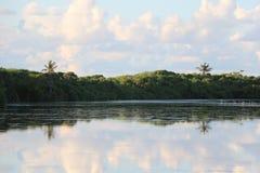 Het meer van het bezinnings zoet water royalty-vrije stock fotografie