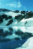 Het meer van het hooggebergte Stock Foto