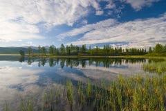 Het meer van het hoogland royalty-vrije stock foto