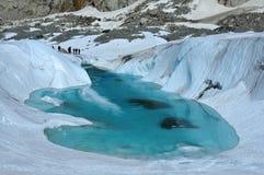 Het meer van het ijs en het globale verwarmen Royalty-vrije Stock Afbeeldingen