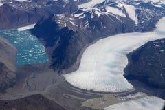 Het meer van het ijs van Groenland stock afbeelding