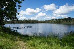 Het meer van het land royalty-vrije stock afbeelding