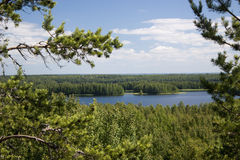Het meer van het noorden Stock Illustratie