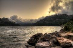 Het meer van het onweer Stock Fotografie