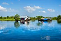 Het meer van het Sap van Tonle, Kambodja. Royalty-vrije Stock Afbeeldingen
