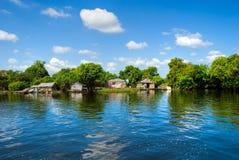 Het meer van het Sap van Tonle, Kambodja. Stock Fotografie