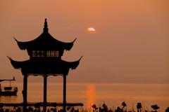 Het Meer van het westen (XiHu) Stock Foto's
