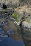 Het meer van het zoutwater royalty-vrije stock foto's