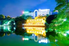 Het Meer van Hoankiem, schildpad Vietnam Royalty-vrije Stock Fotografie