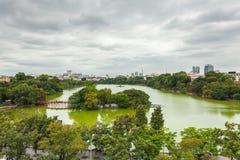 Het Meer van Hoankiem, Vietnam royalty-vrije stock afbeeldingen