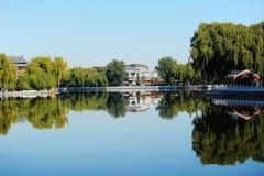 Het meer van Houhai, Peking Stock Afbeeldingen