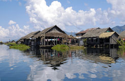 Het Meer van Inle, Birma stock foto
