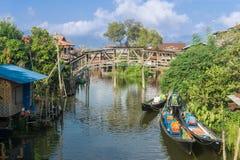 Het Meer van Inle, Myanmar stock afbeeldingen