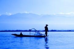 Het Meer van Inle, Myanmar Stock Foto's