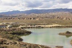 Het meer van Issykkul in Kyrgyzstan Stock Afbeeldingen