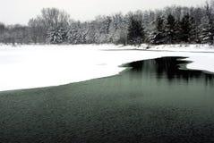 Het meer van januari Royalty-vrije Stock Foto