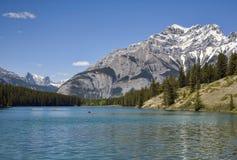 Het Meer van Johnson, Banff, Canada Stock Afbeeldingen