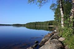 Het meer van Karelië Stock Foto's