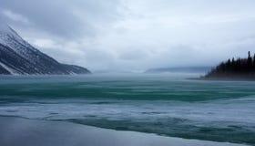 Het meer van Kathleen tijdens verbreken op de yukongebieden Royalty-vrije Stock Afbeelding