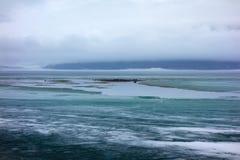 Het meer van Kathleen tijdens verbreken op de yukongebieden Royalty-vrije Stock Afbeeldingen