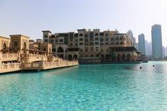 Het Meer van Khalifa van Burj Royalty-vrije Stock Foto's