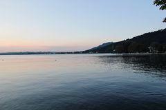 Het Meer van Konstanz in Bregenz, Oostenrijk Stock Afbeeldingen
