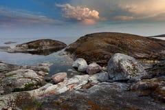 Het meer van Ladoga Stock Foto