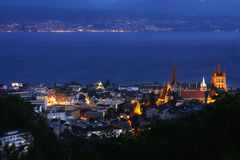 Het meer van Lausanne, Genève, Zwitserland Royalty-vrije Stock Afbeeldingen