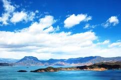 Het Meer van Lugu stock foto's