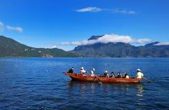 Het Meer van Lugu Stock Afbeelding