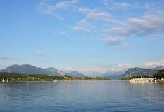 Het meer van Luzern Stock Foto