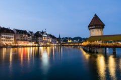 Het meer van Luzern stock afbeeldingen