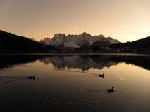 Het meer van Misurina Stock Afbeeldingen