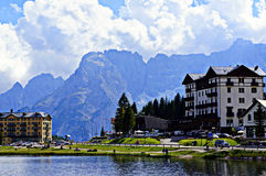 Het meer van Misurina royalty-vrije stock foto