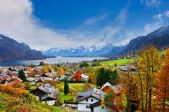 Het meer van Mondsee in Oostenrijk royalty-vrije stock foto