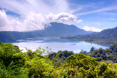 Het meer van Munduk Stock Foto's