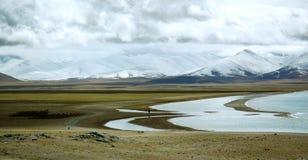 Het meer van Namptso Stock Foto's