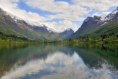Het meer van Noorwegen Royalty-vrije Stock Fotografie