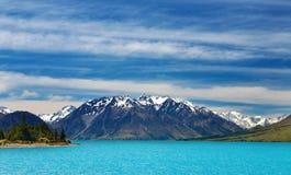 Het meer van Ohau, Nieuw Zeeland Royalty-vrije Stock Foto