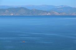 Het Meer van Ohrid stock foto's
