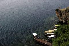 Het Meer van Ohrid stock afbeeldingen