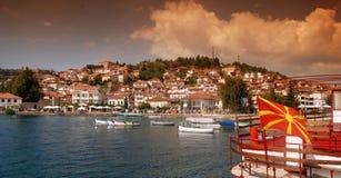 Het meer van Ohrid, Macedonië Royalty-vrije Stock Foto