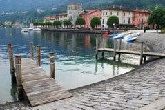 Het meer van Orta, Italië royalty-vrije stock foto's