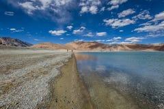 Het meer van Pangong Stock Afbeelding
