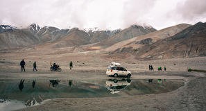 Het meer van Pangong in Ladakh, India Stock Afbeelding