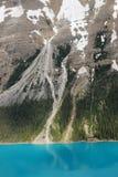 Het meer van Peyto en berghelling royalty-vrije stock fotografie