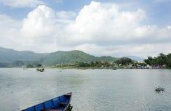 Het Meer van Phewa Stock Foto