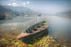 Het Meer van Phewa Stock Foto's
