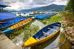Het Meer van Phewa, Pokra, Nepal Stock Fotografie